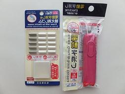 Electric  Eraser, Pink with 15 Eraser Refills & Refill Case