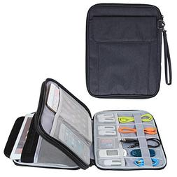 Damero Double Layer Electronics Organizer, Travel Accessorie