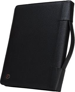 Case-it Executive Zippered Padfolio with Removable 3-Ring Bi