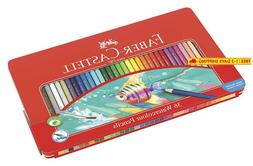 Faber-Castell 115931 Watercolor Pencil Set Of 36 Assorted Co