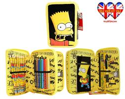 Simpson Filled Pencil Case, 2 Layer Pencil Case!Official lic