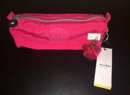 Kipling Freedom Vibrant Pink Pencil/Pen/Cosmetic Case Pouch
