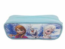 frozen light blue pencil pouch zippered pencil