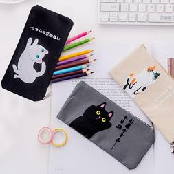 Funny Cute Cat Cartoon Pencil Case Kawaii Stationery Pouch S