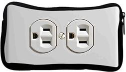 Rikki Knight Funny Electrical Outlet Design Neoprene Pencil