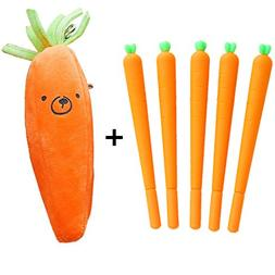 Funnylive Cute Carrot Gel Ink Roller Ball Pens  and Carrot P