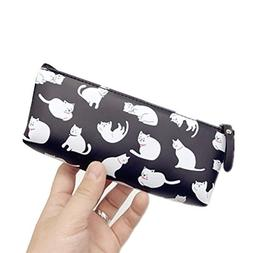 Funnylive Jelly Glue Pencil Case Cute Cats Pen Bag Creative