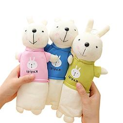 Funnylive Short Plush Rabbit Pencil Case,Set of 2
