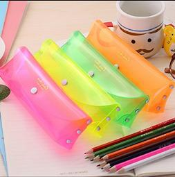 Funnylive®Sweet Candy Color Transparent Pen Bag Mini Pencil
