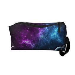 Galaxy Space Stars Ufo 5 Clutch Pouch For Women Cosmetic Cas