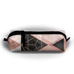 Geometric Triangles And Rose Gold Christmas Printing Pen Bag