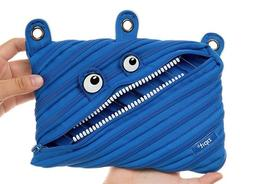 ZIPIT GRILLZ Monster 3-Ring Pouch/Pencil Case in Royal Blue