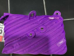grillz purple monster 3 ring pouch pencil