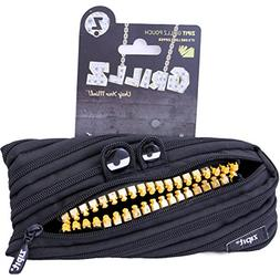 Zipit GRILLZ Teeth Monster Zipper Pouch Black