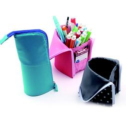 JW_ Stand-Up Dust-Free Makeup Brush Holder Pencil Pen Case S