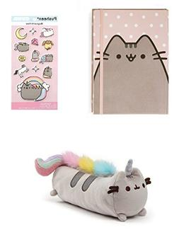 GUND Pusheenicorn Pencil Case bundle with Notebook and Stick
