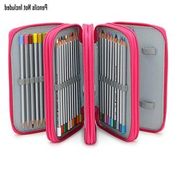 BTSKY® Handy Wareable Oxford Pencil Bag 72 Slots Pencil Org