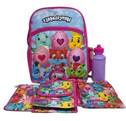 "Spinmaster Hatchimals 16"" Backpack, Lunch Bag, Pencil Case,"
