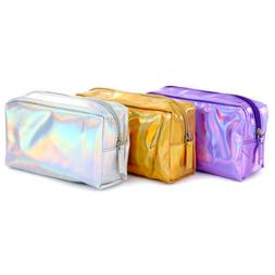 holographic multi function purse box travel makeup