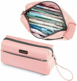 Homecube Pencil Case Cosmetic Bag Student Stationery Pouch B