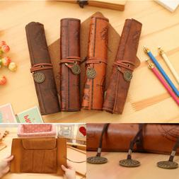 Hot Vintage Retro Treasure Map Luxury Roll Leather Make Up C