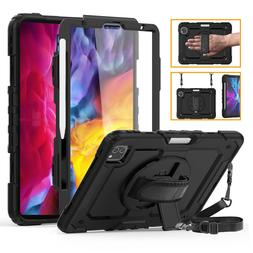 """For iPad Pro 11"""" 12.9"""" 2020 Case Built-in Screen Hand Strap"""