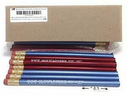Jumbo TOT pencil, Round, 10mm Metallic Blue and Red, Med Sof