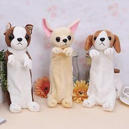 Kawaii Cartoon Plush Dog Puppy Pencil Case Cute Animal Pen B
