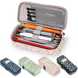 Kawaii Floral Pencil Case Large Capacity Pencil Bag Pen Box