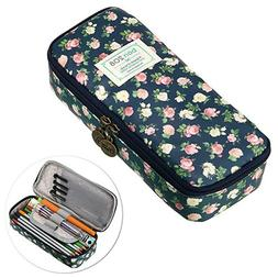 Kawaii Floral Pencil Case Large Capacity Pencil Bag Cute Pen