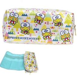 Keroppi 2-In-1 Pouch Pen Pencil Holder Makeup Tool Bag w/ Re