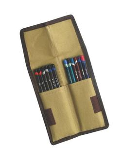 Derwent Pencil Case, Canvas Wrap Pencil Holder, Holds up to