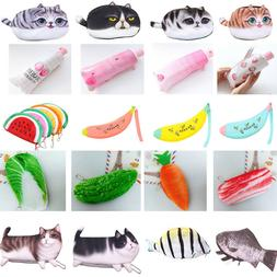 For Kids School Various Cute Pencil Case Storage Bag Coin Pu