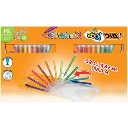 BIC Kids Assorted Colors Marker Pack with Carrying Case, 24