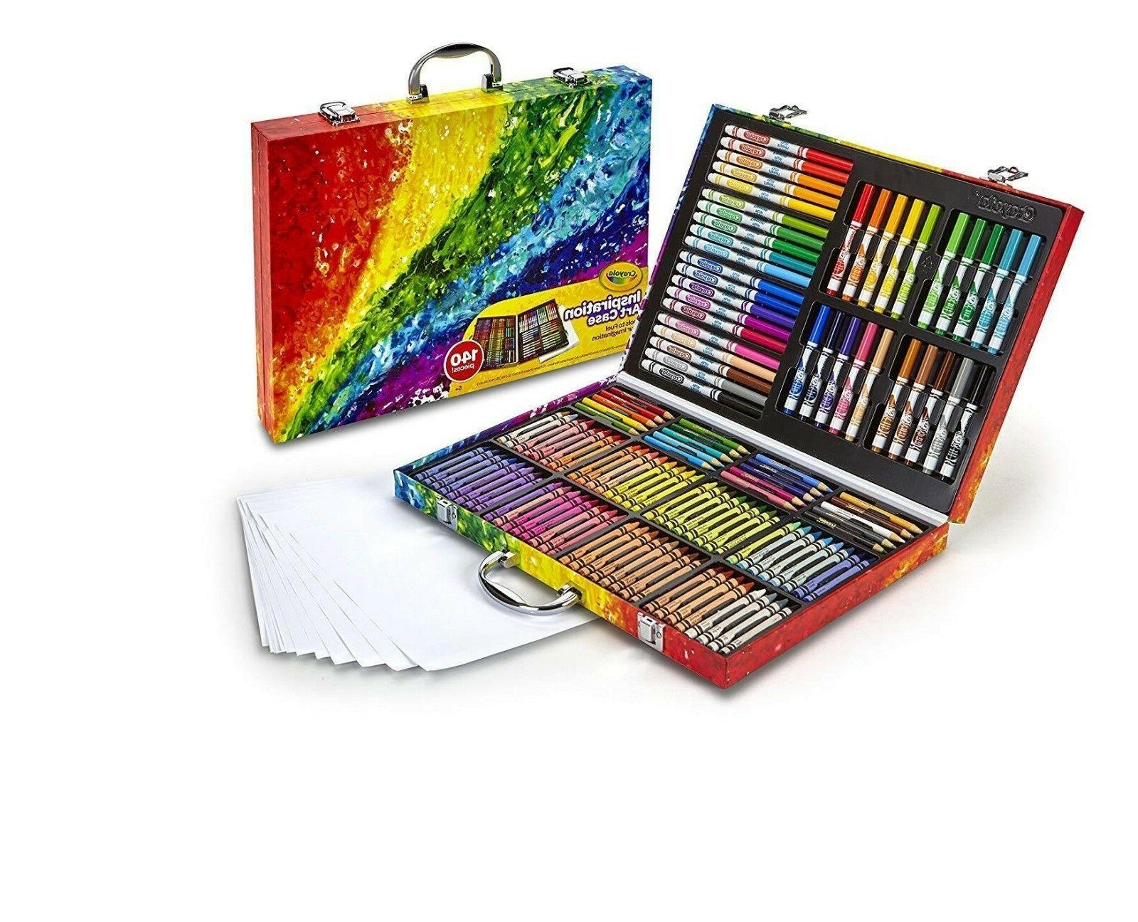 Drawing Set Color Pencil Pastel Sketching Markers and Case