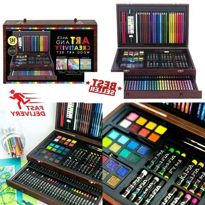 142-Piece Drawing Professional Supplies Case