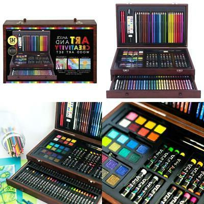 142 piece drawing pencil set professional art