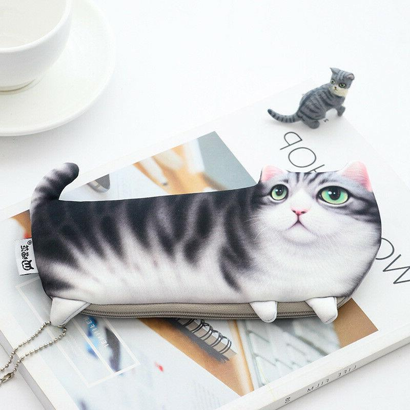 1PC Cute Pencil Bag Makeup Cosmetic Pouch for Girl Boy