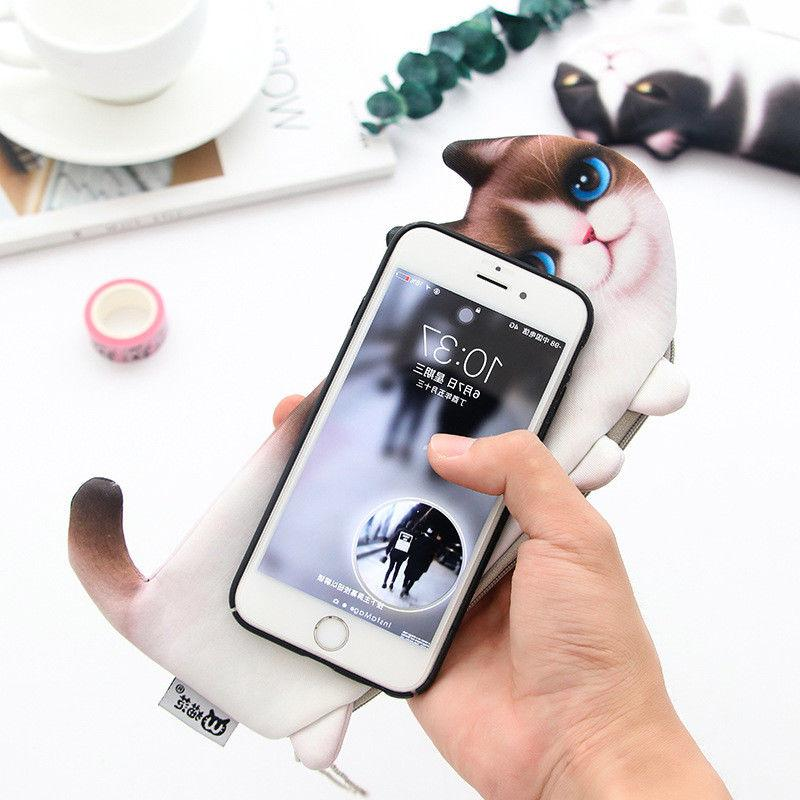 1PC Cute Cat Pencil Makeup Case Cosmetic for Girl