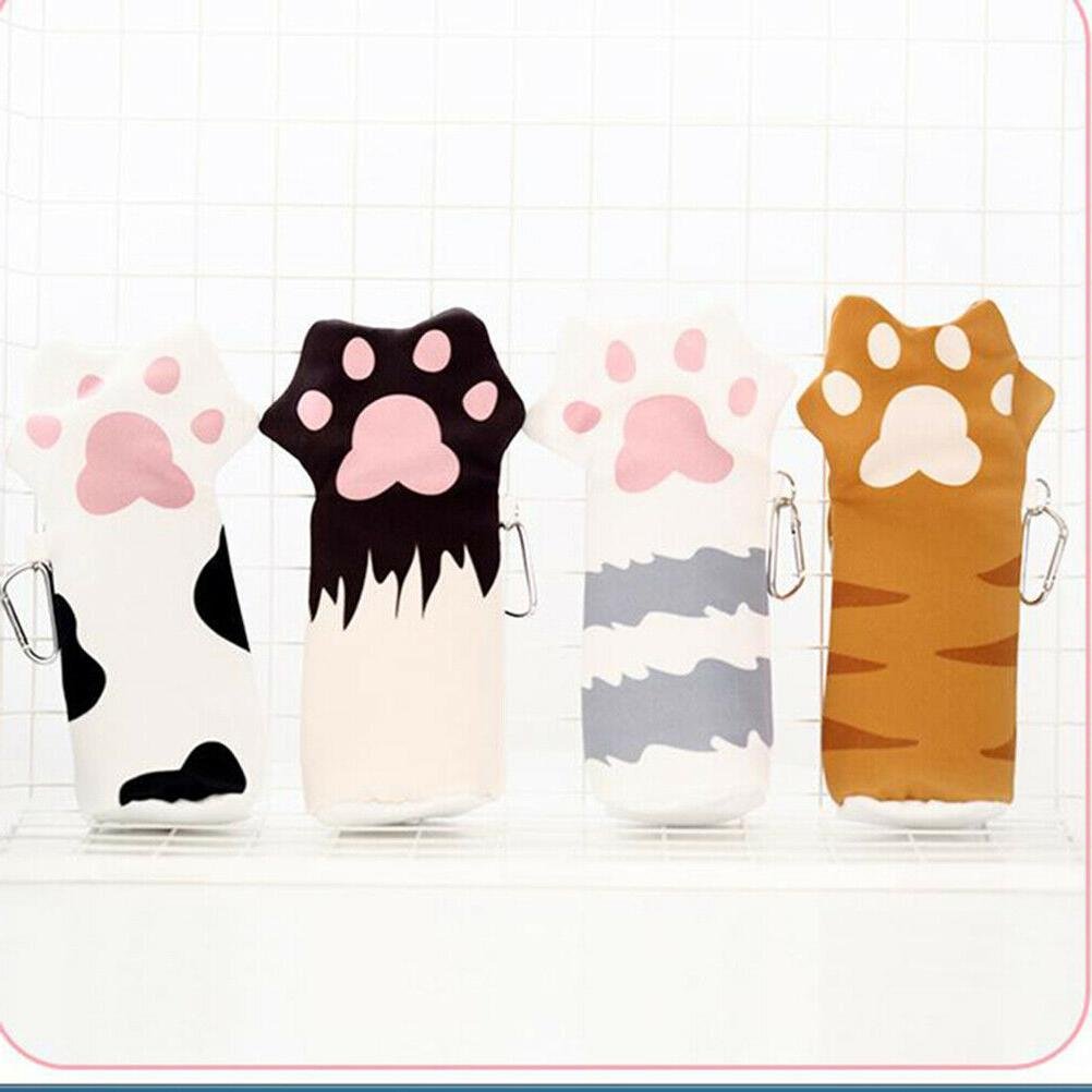 1pc Kawaii Cat Claw Stationery Pen Bags Girls Kids