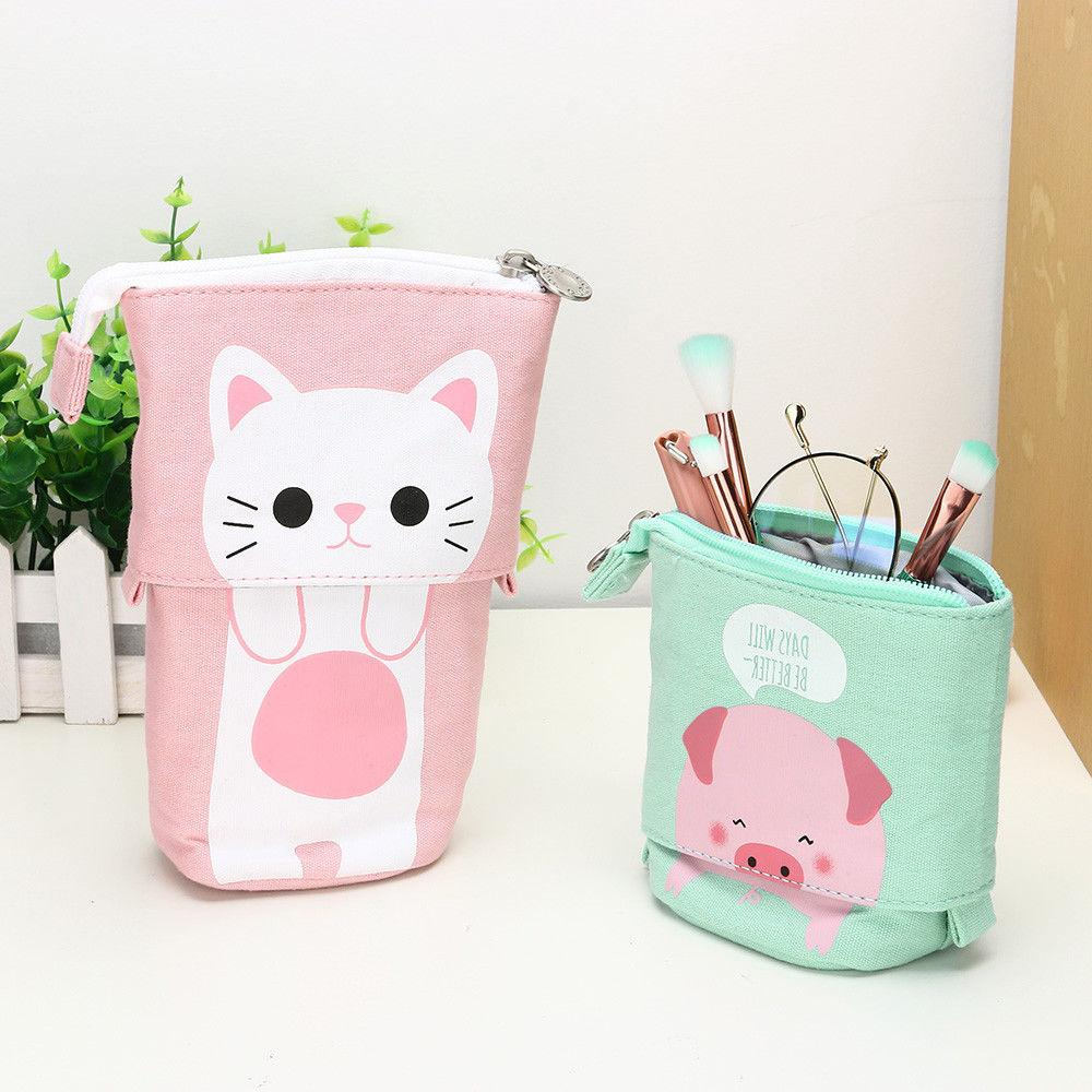 1PC Store Pencil Case Box Cartoon Telescopic Bag Box