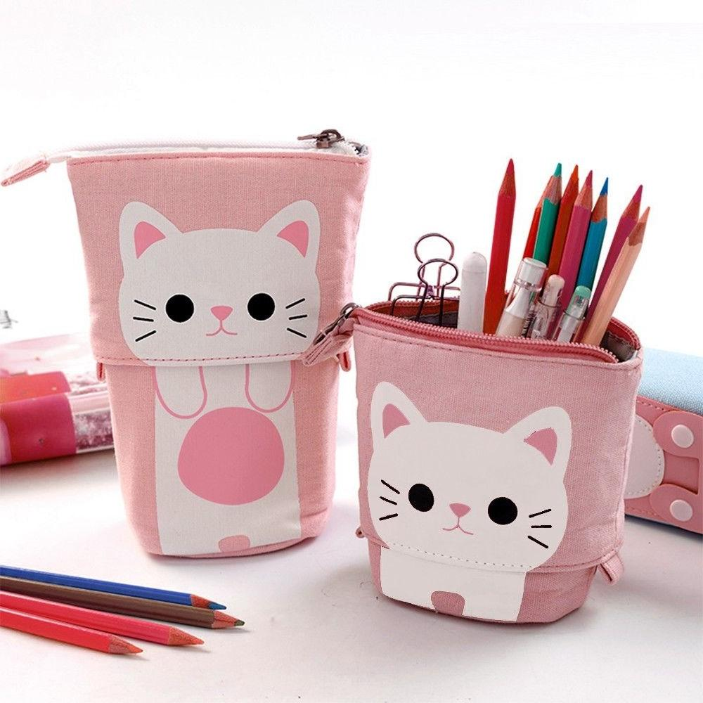 1PC Store Pencil Box Cartoon Cute Telescopic Pencil Bag Box