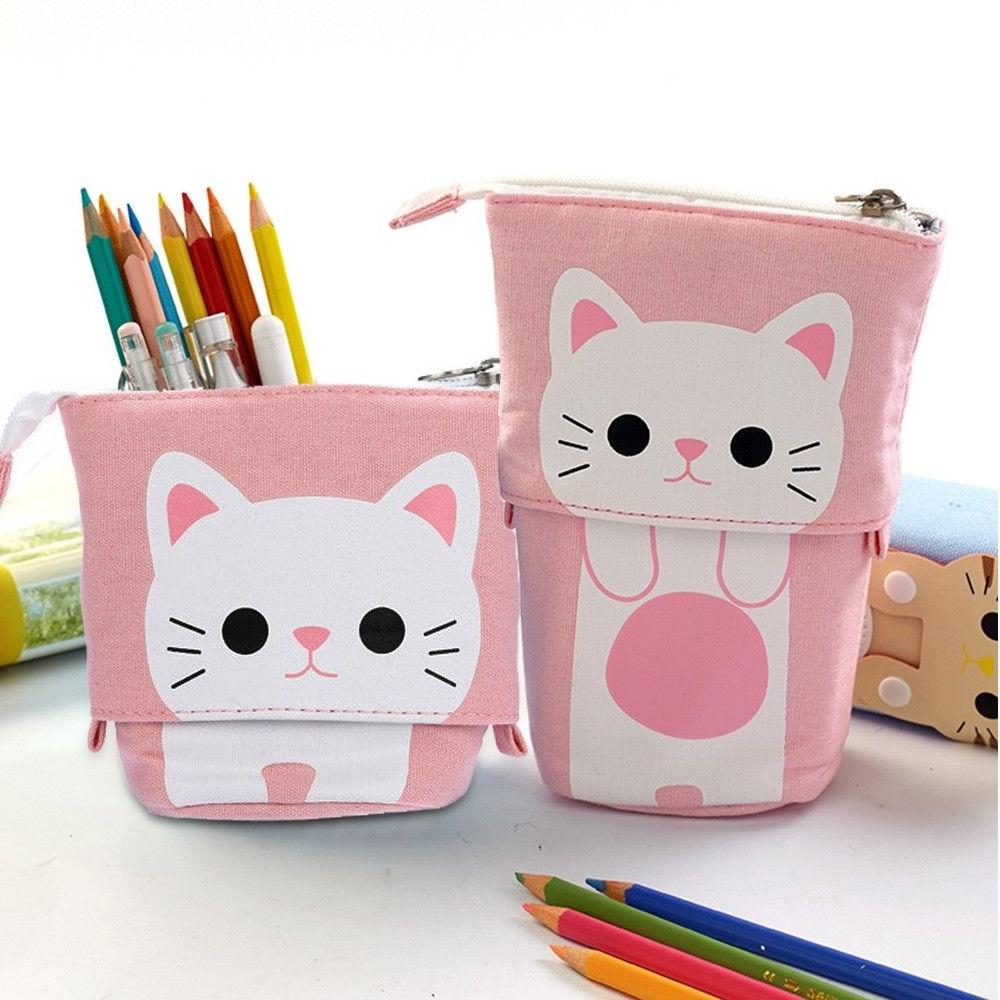 1PC Store Pencil Box Cartoon Telescopic Pencil Box