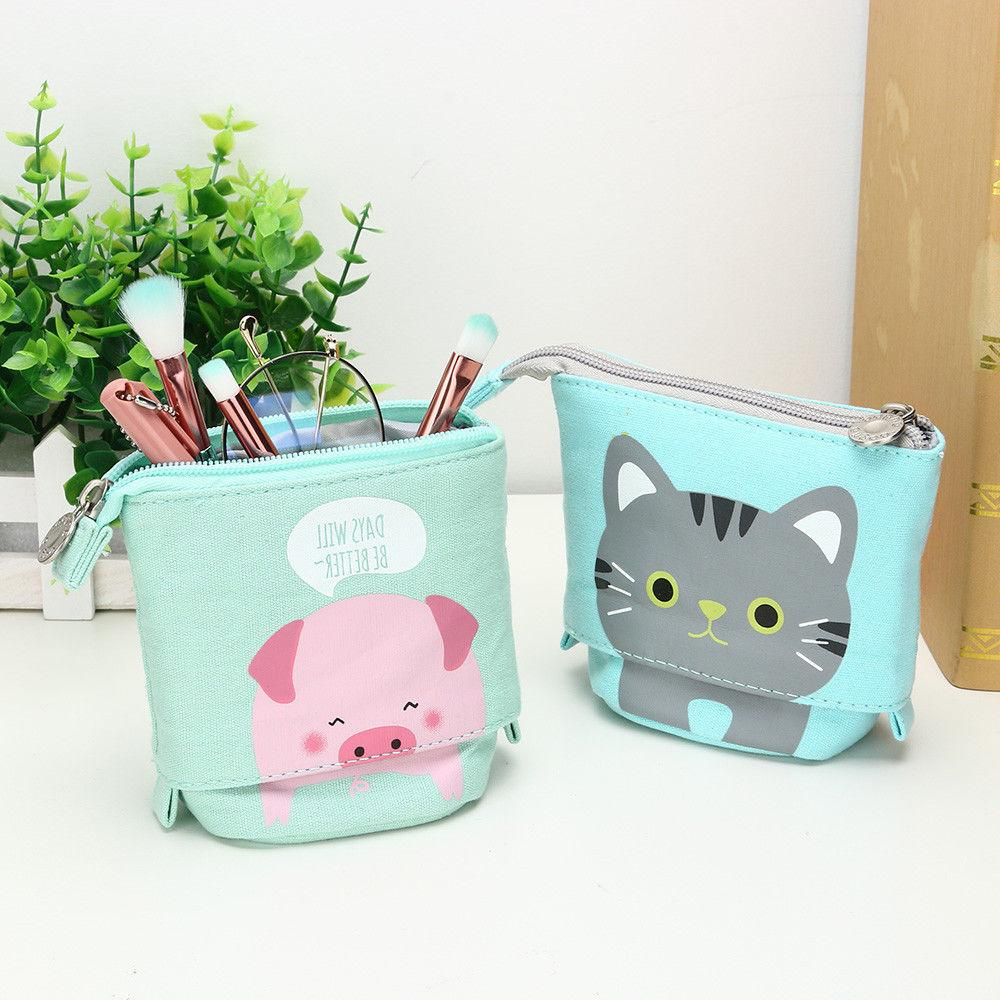 1PC Store Case Box Cartoon Telescopic Pencil Box