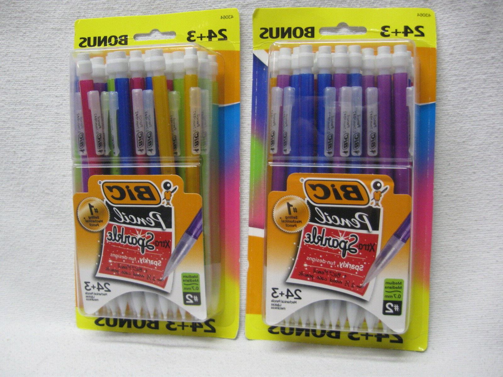 BIC #2 Mechanical Pencil with Xtra Sparkle Case, 0.7mm, 27ct