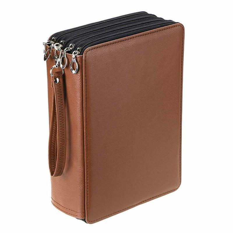 Pencil Organizer Deluxe PU Leather Pencil Holder