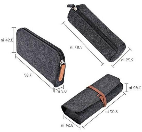 3 Pack Pen Pencil Holder Grey Back