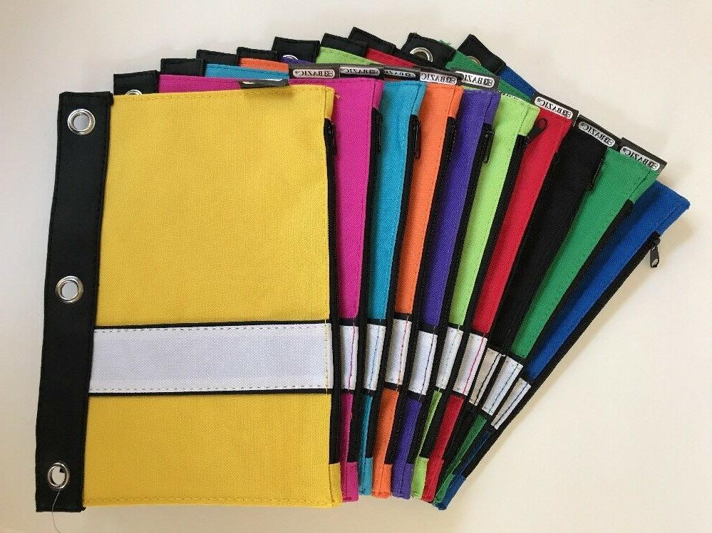 3 ring binder zippered stationery pencil pouch