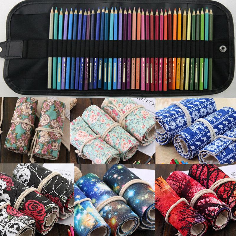 36/48/72 Roll Case Pen Bag Storage Pouch
