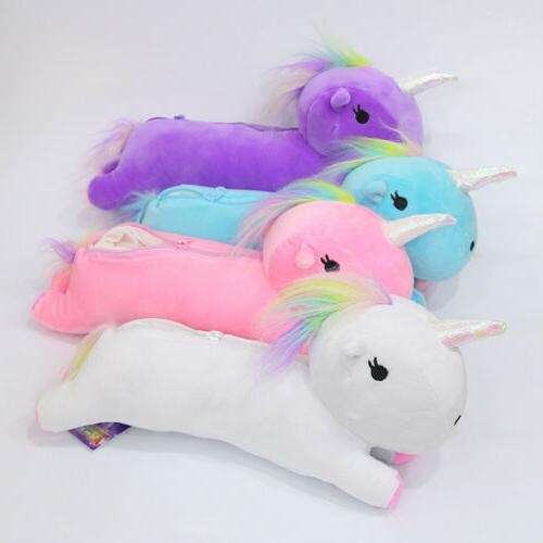 unicorn plush make up bag women s